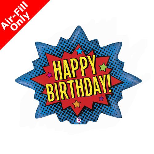 14inch Birthday Superhero Foil