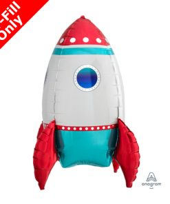 16inch Air Filled Rocket Ship MultiBalloon Foil