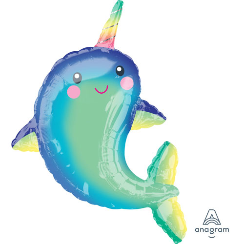Happy Narwhal SuperShape Foil