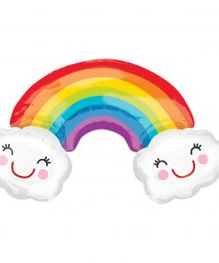 SuperShape Rainbow with Clouds Foil