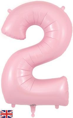 34inch Number 2 Matte Pink Foil