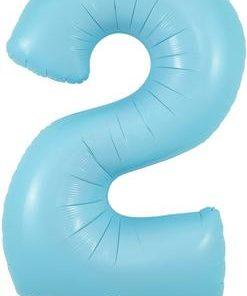34inch Number 2 Matte Blue Foil