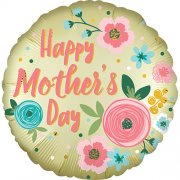 Mother's Day Pastel Yellow Satin Foil