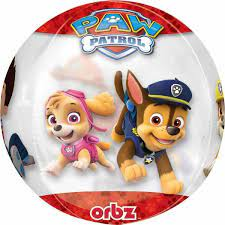 Paw Patrol Chas and Marshall Clear Orbz Foil