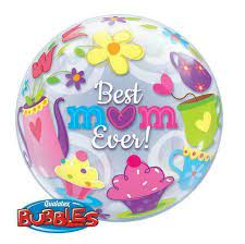 "22"" Best Mum Ever! Tea Time Single Bubble"