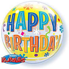 Birthday Fun and Yellow Bands Single Bubble