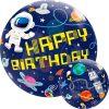 Birthday Outer Space Single Bubble Balloon