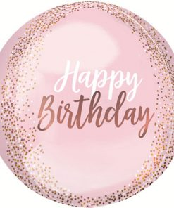Happy Birthday Blush Orbz Foil