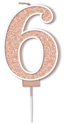 Oaktree Sparkling Fizz No.6 Candle 7.5cm Rose Gold