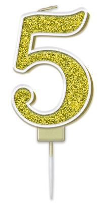 Oaktree Sparkling Fizz No.5 Candle 7.5cm Gold
