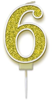 Oaktree Sparkling Fizz No.6 Candle 7.5cm Gold