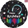 Media Music Birthday Holographic Foil