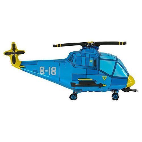 Helicopter Blue Foil