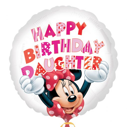Minnie Mouse Happy Birthday Daughter Foil