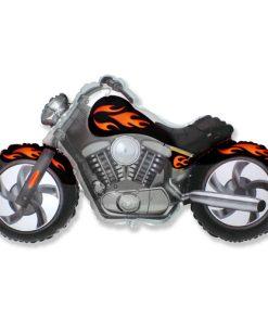 Black and Orange Motorbike Foil