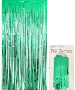Foil Door Curtain Metallic Green