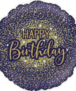Glamorous Glitter Birthday Blue Foil