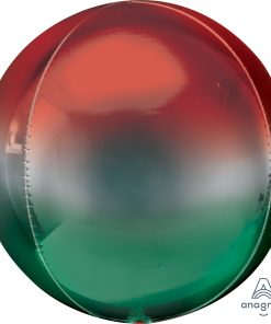 Ombre Red and Green Orbz Foil