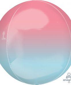 Ombre Pink and Blue Pastel Orbz Foil